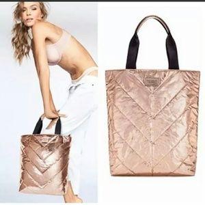 Victoria's Secret Rose Gold Tote